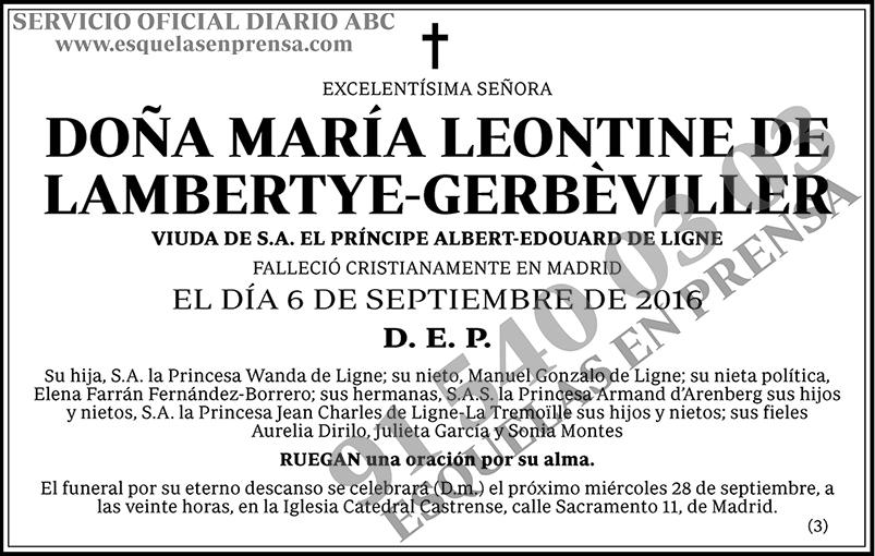 María Leontine de Lambertye-Gerbèviller